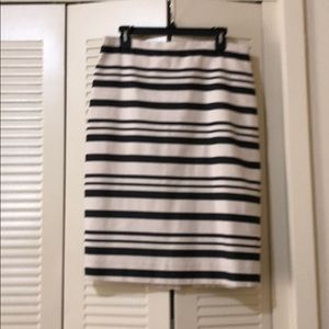 J. Crew striped pencil skirt size 10